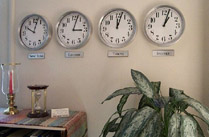 time zone display wall clocks