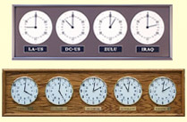 Geochron World Clocks Multiple Time Zone Wall