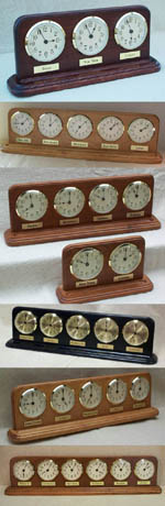 time zone clocks for the desk or table top - custom made