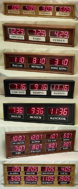Time Zone Clocks Multiple Time Zone Digital Clocks