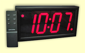 Digital clocks with bright led 39 s lighted electric diodes 110 volt plug in - Digital illuminated wall clocks ...