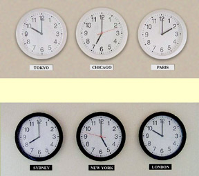 Multi Time Zone Clocks