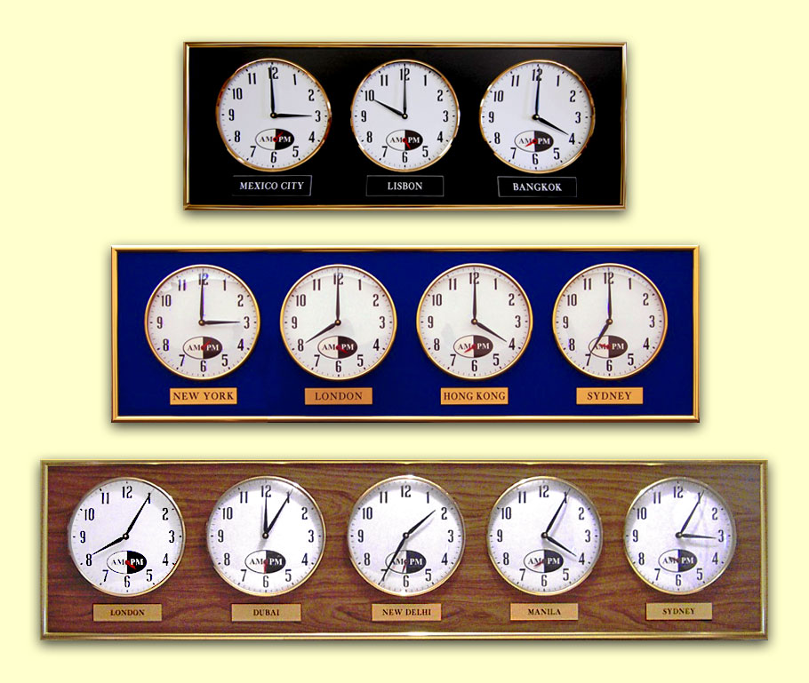Product listing multiple time zone wall clocks product listing multiple time zone wall clocks gumiabroncs Gallery
