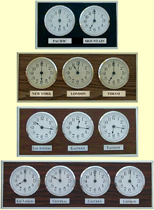 Product Listing Multiple Time Zone Wall Clocks