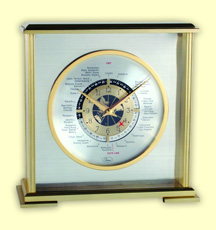 AVIATOR WORLD TIME SHELF CLOCK