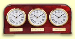Three Dial Time Zone Desk Clock