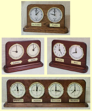 time zone clocks for the mantle - custom made